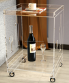 clear acrylic occasional table with caster