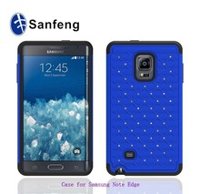 CNC machining custom phone case maker factory best sell diamond phone case for galaxy note edge