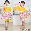 summer long sleeve baby woven cotton daily dresses floral girls simple dress