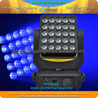 25x12W RGBW 4in1 led magic matrix moving head wall wash light
