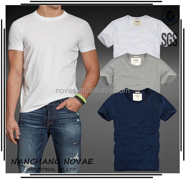 2014 Summer Short Sleeve Men Causal Indian Cotton T Shirt Men O-neck Made In Korea Men Apparel