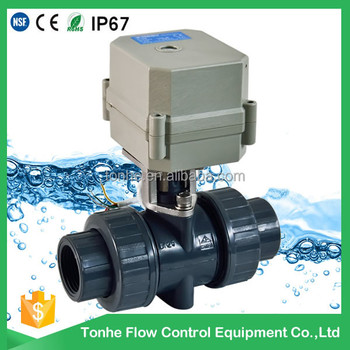 2016 RoSH 1/2 inch electric automatic water valve UPVC actuator ball valve