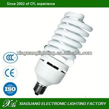 China CFL E27 Bright Power 20 watt half spiral energy saving lamp