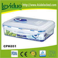 2015 Home waterproof airtight microwave vacuum plastic containers with pump to keep food fresh