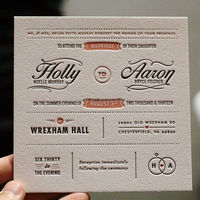 Wreath Crest Design Bella Figura Letterpress Wedding Invitations