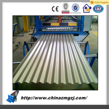 Hydraulic post cutting OEM step tile roof roll forming machine with safety guard