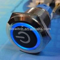 push button anti-vandal switch with momentary function and RING LED + POWER SYMBOL LED
