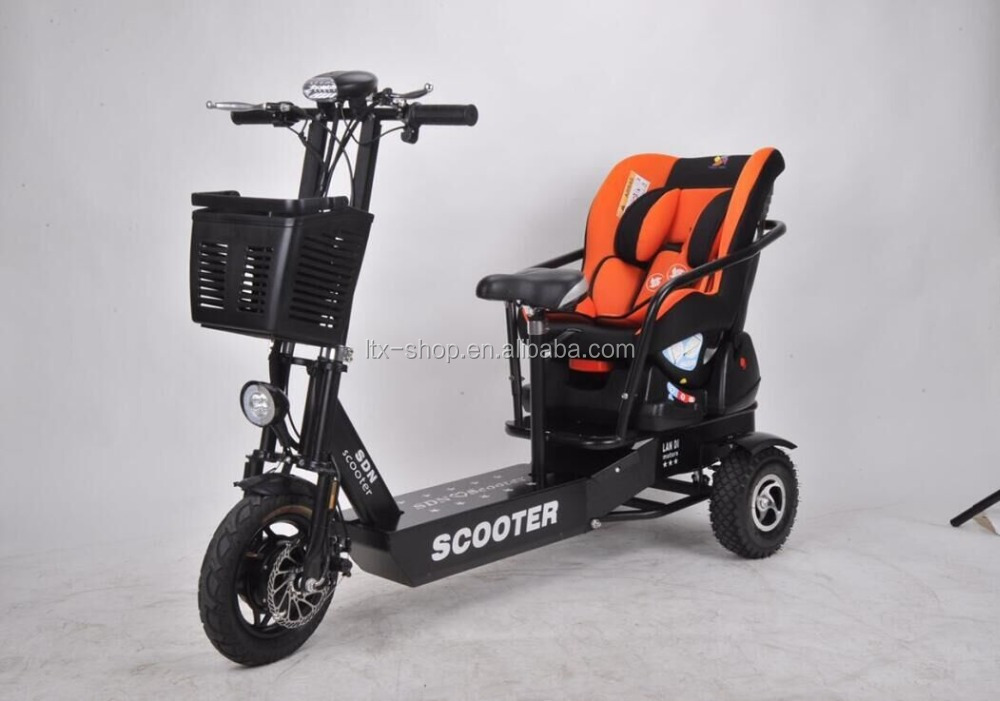 3 Wheel Electric Scooter Paternity Electric Car High 48V 350W Electric Mobility Scooter With Baby Safe Seat For Sale