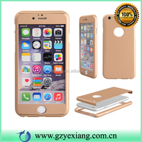 Hot Sale Tempered Glass Full Protective Cover Case For Iphone 6 360 Degrees Phone Case