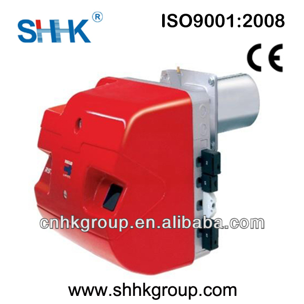 Single phase fire gas burner