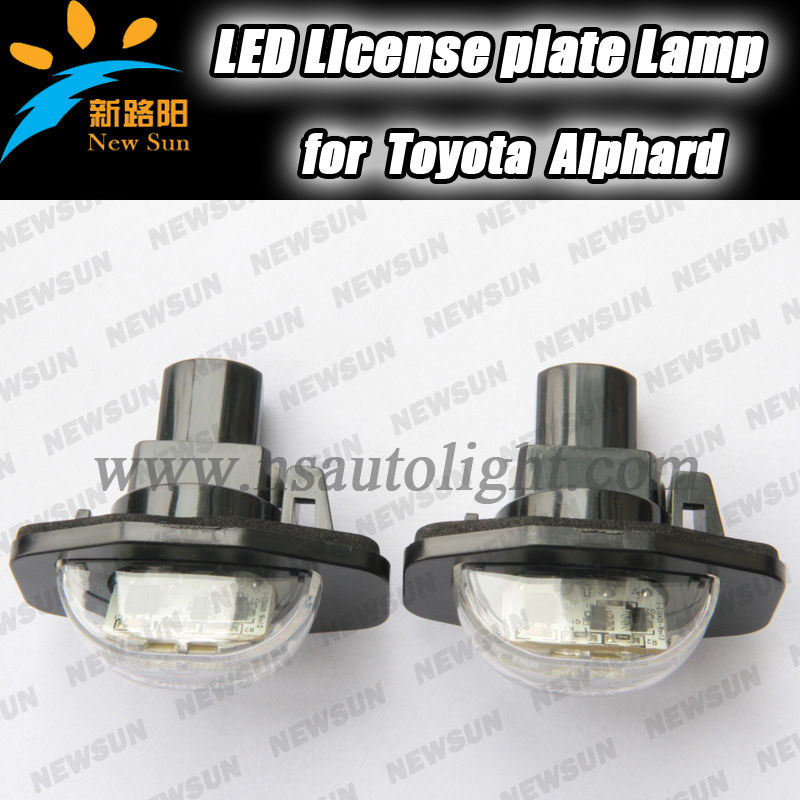 LED License Plate Light car Number plate Light for Toyota Alphard Auris Corolla Wish Sienna Urban Scion XB XD Super bright white