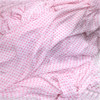 "White & Pink Polka Dot Crushed CHIFFON 60""W FABRIC for SCARF DRAPE LINING QUILT"