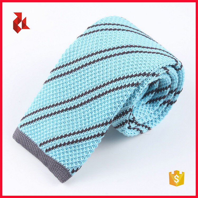 Hot Sale Black Stripe Polyester Knitted Ties