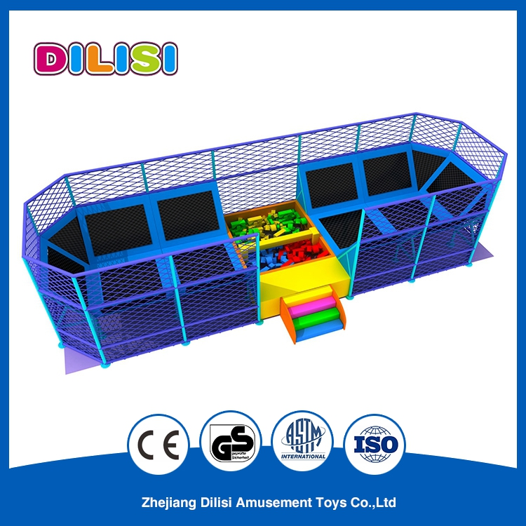 High quality durable indoor bed trampoline park for sale, jumping bed