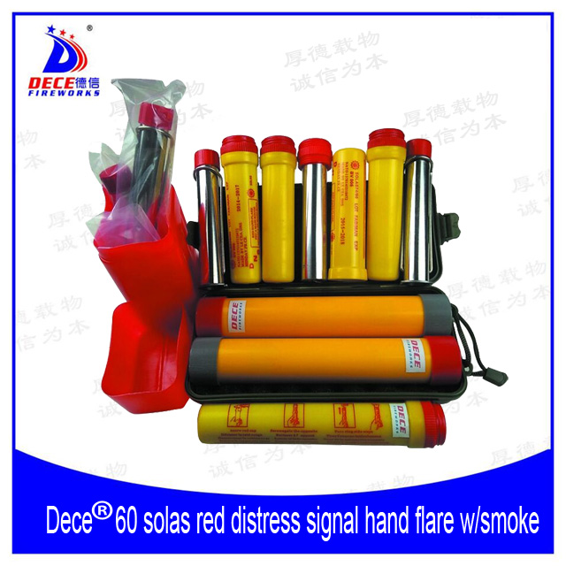 Dece Marine Distress Red Signal Hand Flare with Smoke