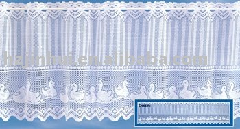 unique pleated sheer kitchen curtain/lace kitchen curtain
