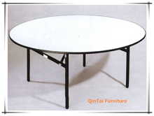Metal Folding Banquet Picnic Table Iron Leg banquet table
