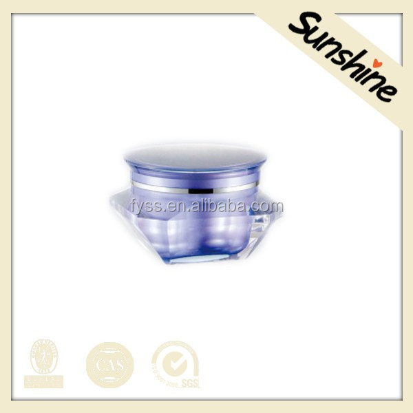 Empty diamond shape cosmetic acrylic jar container