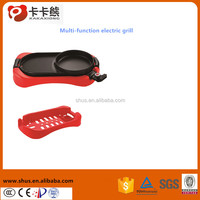 Electric double sided grill pan