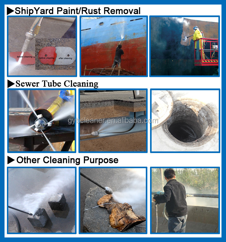 pipe cleaning system hydraulic high pressure washer machine for pipe cleaning
