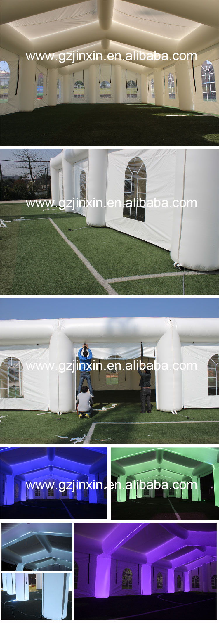 15m x 20m Used Inflatable PVC Party Marriage Wedding Tent Marquee Outdoor Sound Proof Luxury Tent China