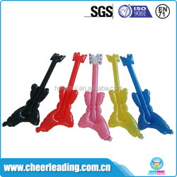 Wholesale small size plastic cheering inflatable guitar balloon