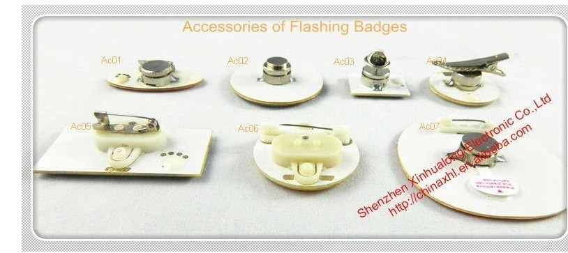 Round Shape Plastic Led Badge Led Pin