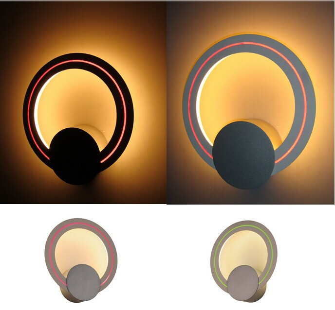 Modern simple design matt silver circle glass wall lamp with self mold