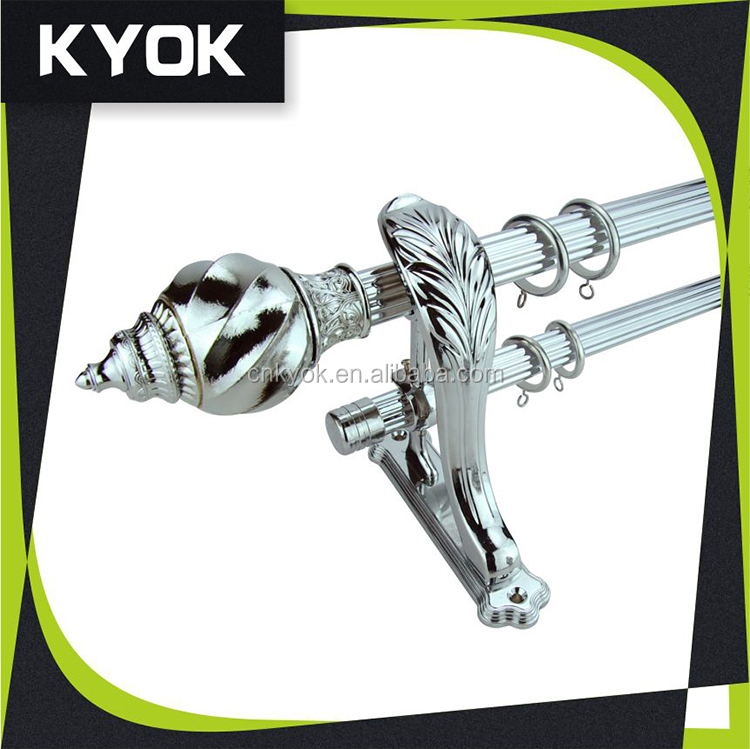 2015 new design fixed curtain tube thick curtain rods, durable curtain bracket, home decoration curtain finials