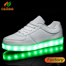 led shoes with lights PU material shoes with led lights adult style colorful led shoes
