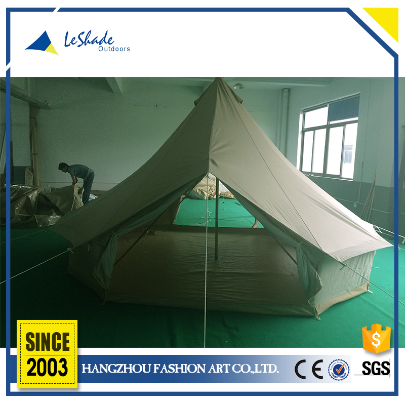 Professional design breathable Family Camping Foldable Canvas Bell Tent