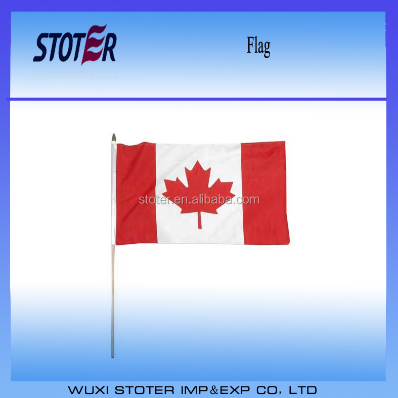 150th canada hand waving flag fastest delivery stock canadian hand flag with wooden pole