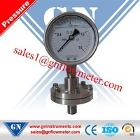 compressed gas diaphragm pressure gauge