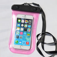 top sale universal waterproof bag case for cell phone / pda- hot pink