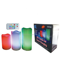 Color Changing Flameless Led Candle Light with Remote Control Wax Candle LED