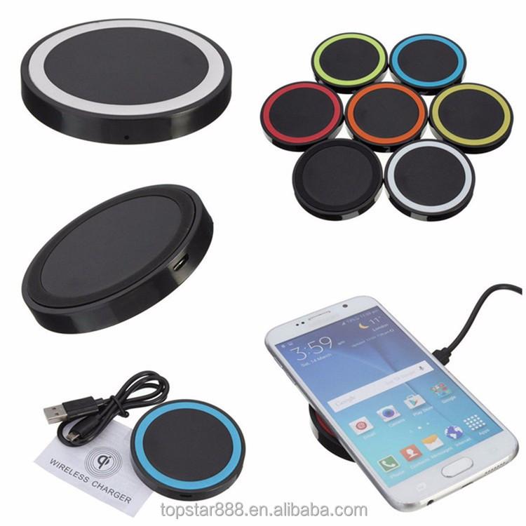 portable usb sans fil qi chargeur inductif mobile chargeur de batterie de t l phone pour. Black Bedroom Furniture Sets. Home Design Ideas