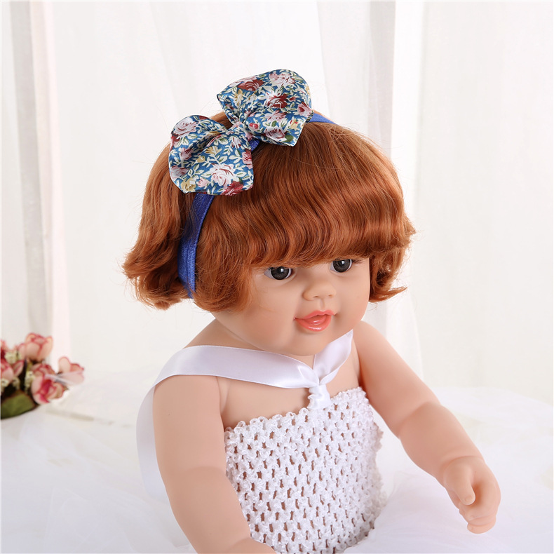 Head Bands For Baby Girls Baby Rabbit Ears Elastic Hair Bands Flowers Bowknot Baby Hairband Custom Printed Headbands F447