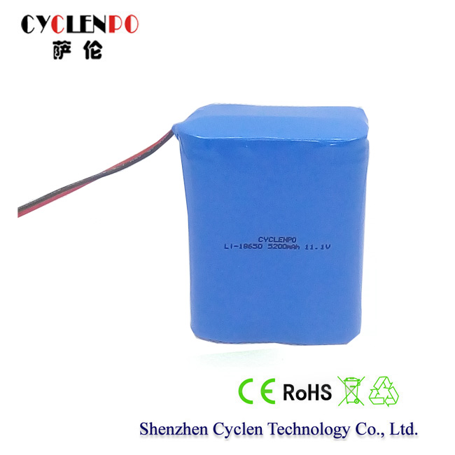 1300mah 18650 8.4v li-ion rechargeable battery for 2-way radio