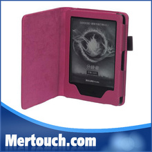 2014 Amazon Lychee design folio book leather new kindle 7 ebook reader case