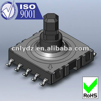10 PIN 10*10mm smd multi function switch 4 direction and center push micro smd tact switch LY-A07-01A
