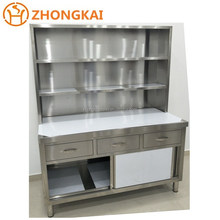 Factory Commercial Stainless Steel Kitchen Cabinets Table Top Shelf Handmade