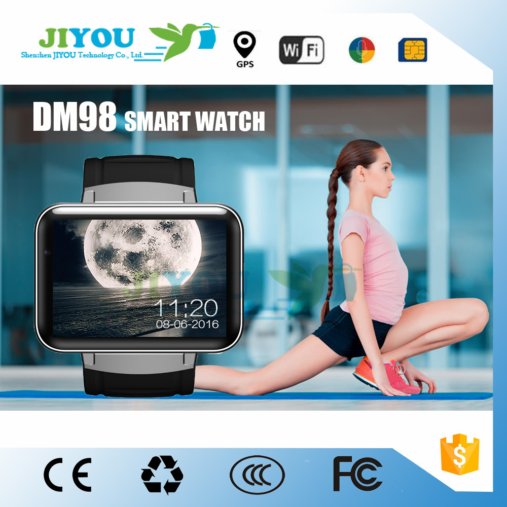 JIYOU DM98 Smartwatch Big Touch Screen BT4.0 3G SIM GPS Wifi Android Watch phone
