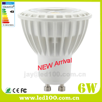 Latest design for 2016 plastic al dimmable 6w 7w led gu10 cob spot light