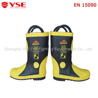 fire resistant safety boots/light rubber boots/ portable fire fighting rubber boots