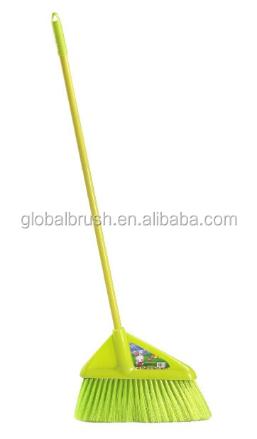 HQ0140 long handle yellow broom soft angle broom for indoor cleaning