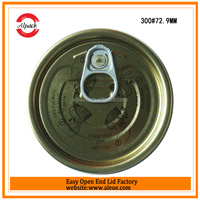 Easy open top end cap for canned codfish