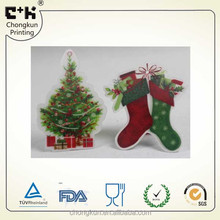 3D die cut Christmas hanging decorations card with a hole
