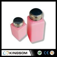 250ml alcohol dispenser pump bottle esd alcohol bottle plastic alcohol bottle