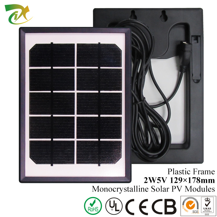 2w 5v Small Size Solar Panel Module Factory With CE TUV