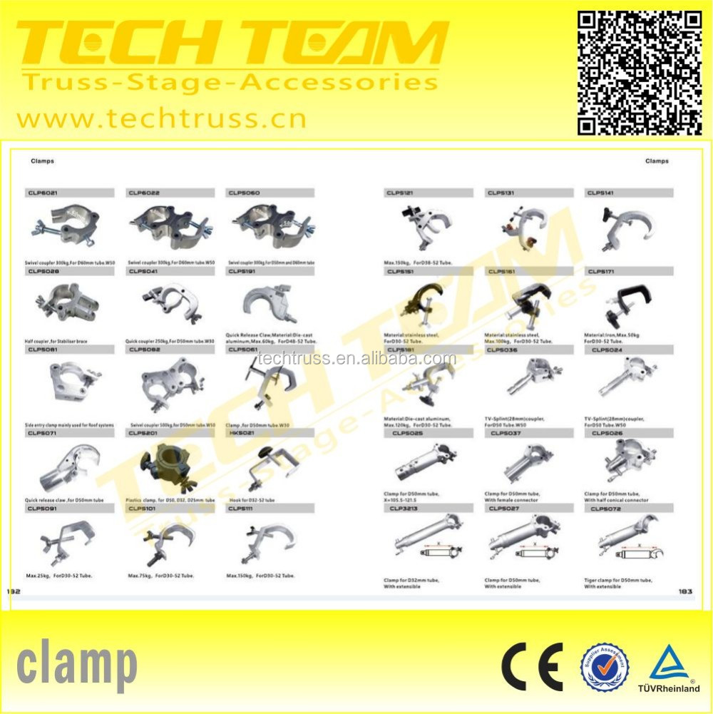 CLP5037 Aluminum Clamp with Female Connector ,High quality metal clamp